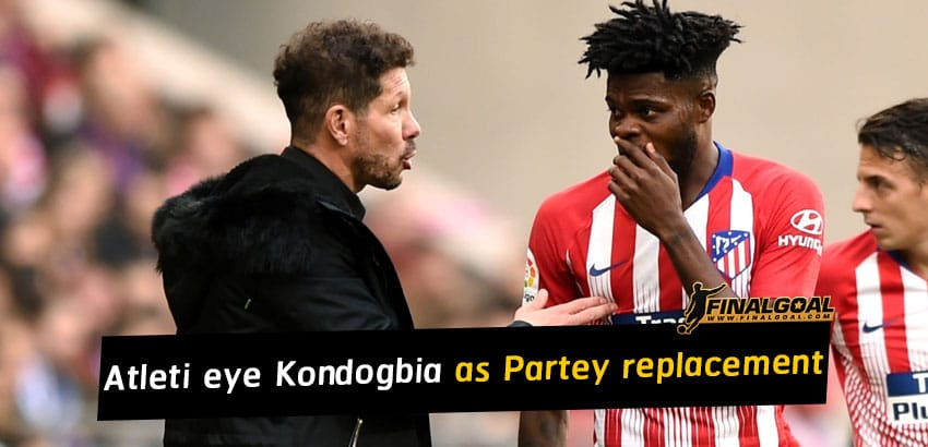 Atletico Madrid eye up Geoffrey Kondogbia as Thomas Partey replacement