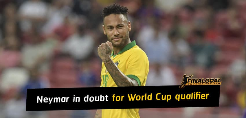 Neymar in doubt for Brazil's World Cup 2022 qualifier