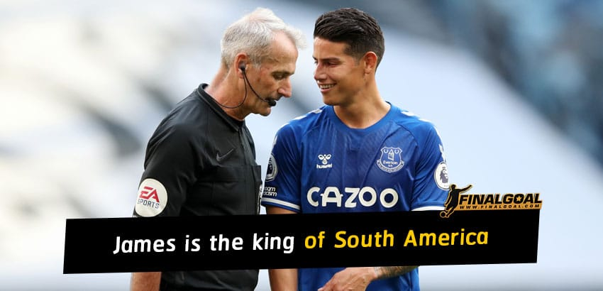 James Rodriguez is the king of South America this season so far