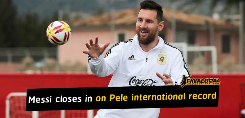 Argentina star Lionel Messi closes in on Pele international record