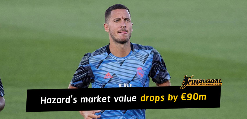 Eden Hazard's market value plummets by €90m with a series of injures