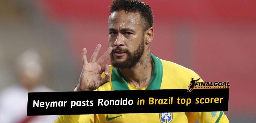 Neymar overtakes Ronaldo to sit second in Brazil's all-time top scorer