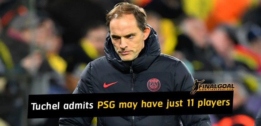 Thomas Tuchel admits PSG could have just 11 players to face Nimes