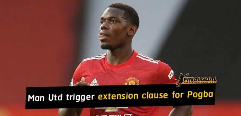 Manchester United trigger one-year extension for Paul Pogba's contract