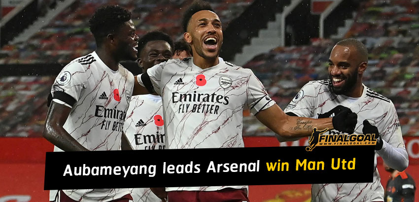 Pierre-Emerick Aubameyang leads Arsenal win over Manchester United