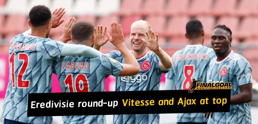 Vitesse Arnhem win fifth in a row to stay level with Ajax at top of Eredivisie