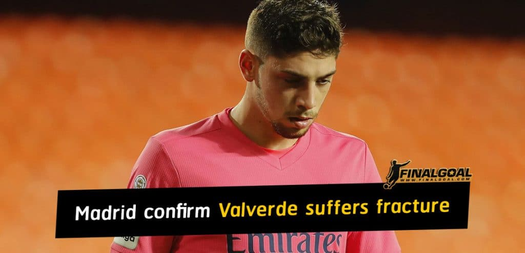 Real Madrid confirm Federico Valverde suffers fracture in right leg