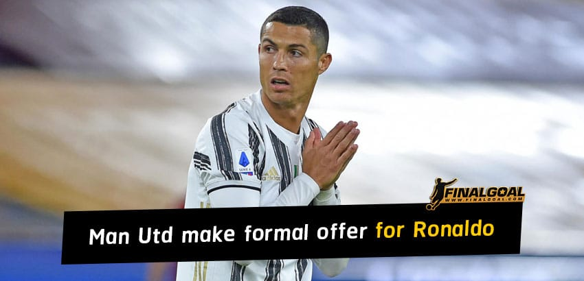 Manchester United make a formal offer for Cristiano Ronaldo reunion