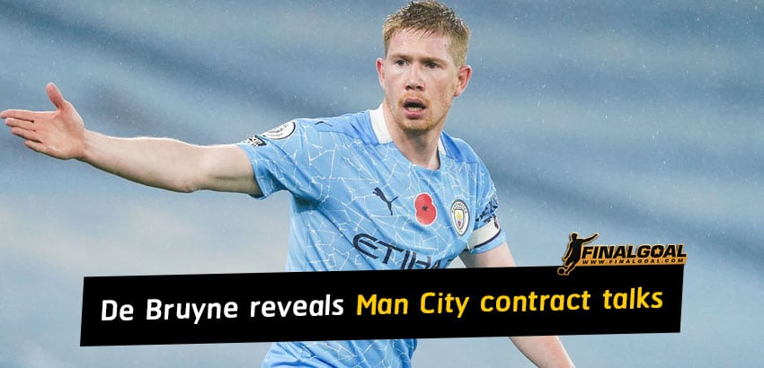Kevin De Bruyne reveals contract talks with Manchester City