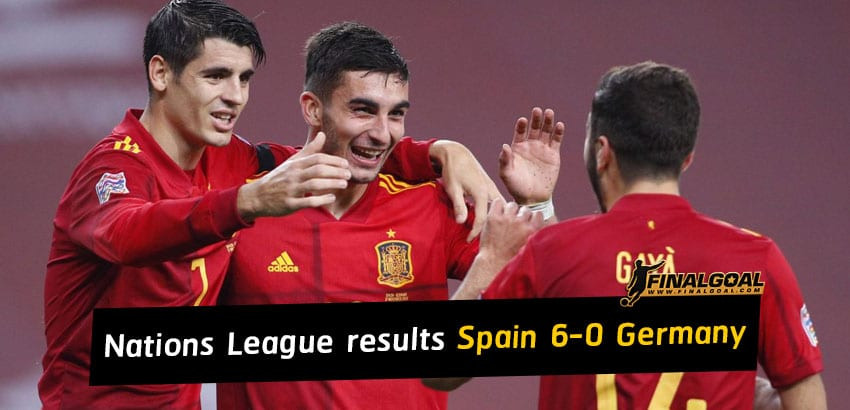 UEFA Nations League results - Spain 6-0 Germany
