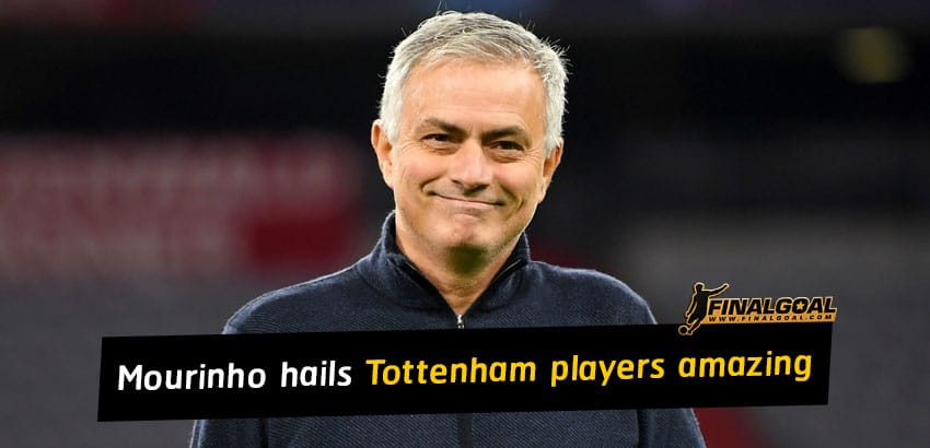 Jose Mourinho hails Tottenham players amazing after beat Man City