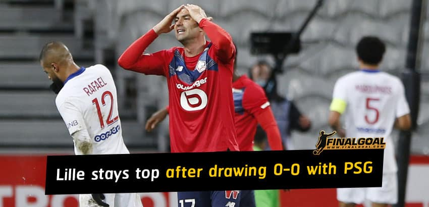Lille stays top of Ligue 1 table after drawing 0-0 with Paris Saint-Germain
