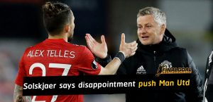 Ole Gunnar Solskjaer says disappointment will push Manchester United