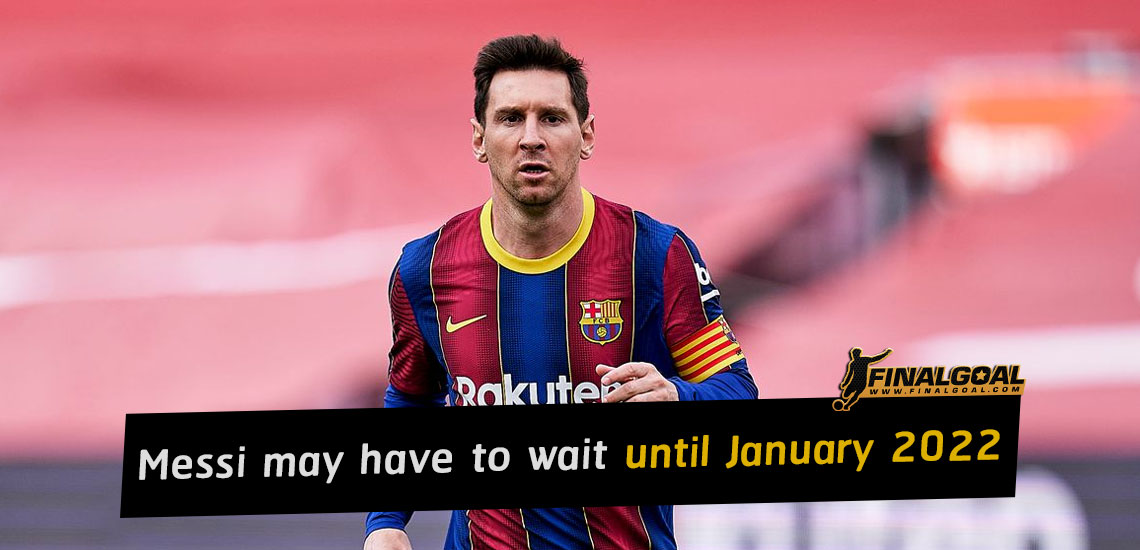 Lionel Messi may have to wait until January to play again