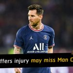 Lionel Messi suffers injury to left knee and could miss Man City clash