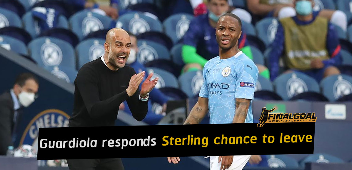 Pep Guardiola responds to Raheem Sterling chance to leave club